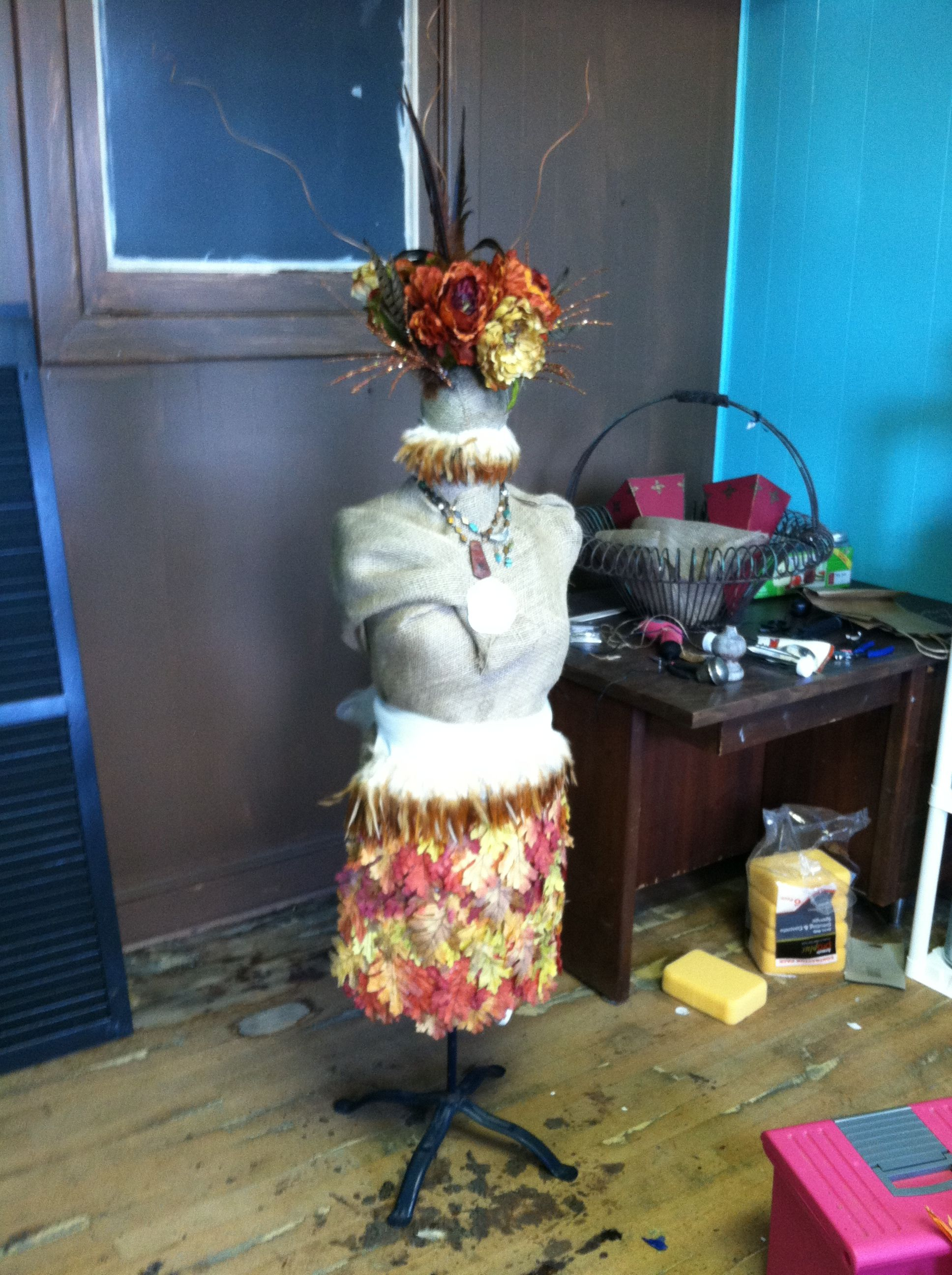 This is my mannequin dressed for Fall...