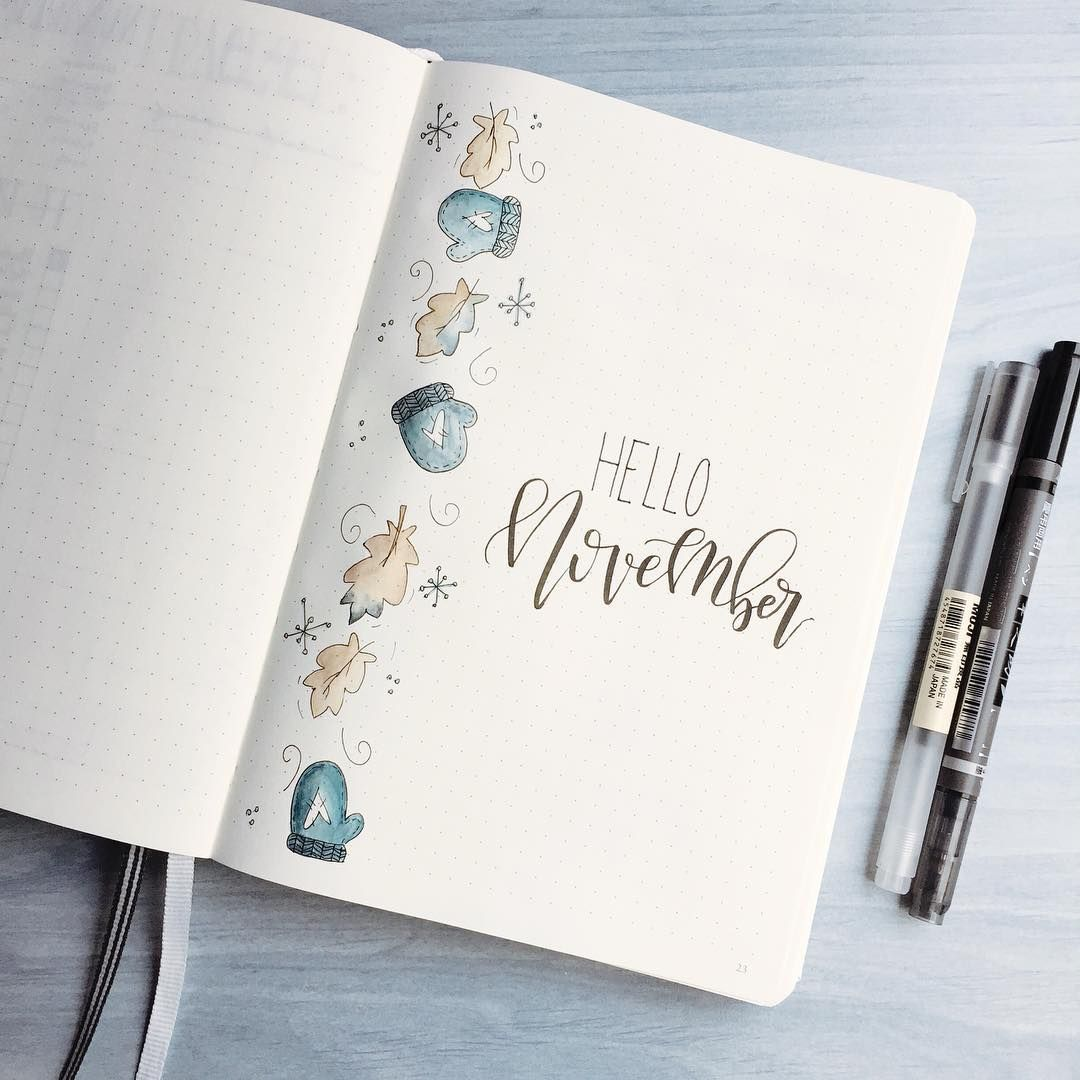 Idées de mise en page aux inspirations automnales pour votre Bullet Journal !