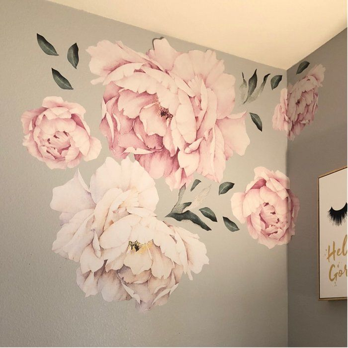 Peony Flowers Wall Decal Flower wall decals, Floral wall
