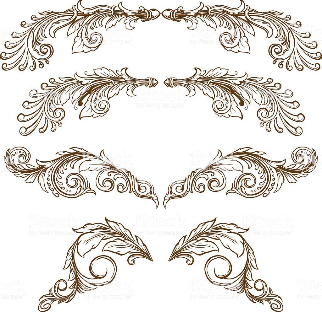 Drawing Ornamental Pack scrolls design