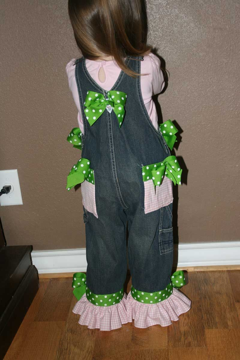 Decorated denim overalls birthday cupcake kids overalls