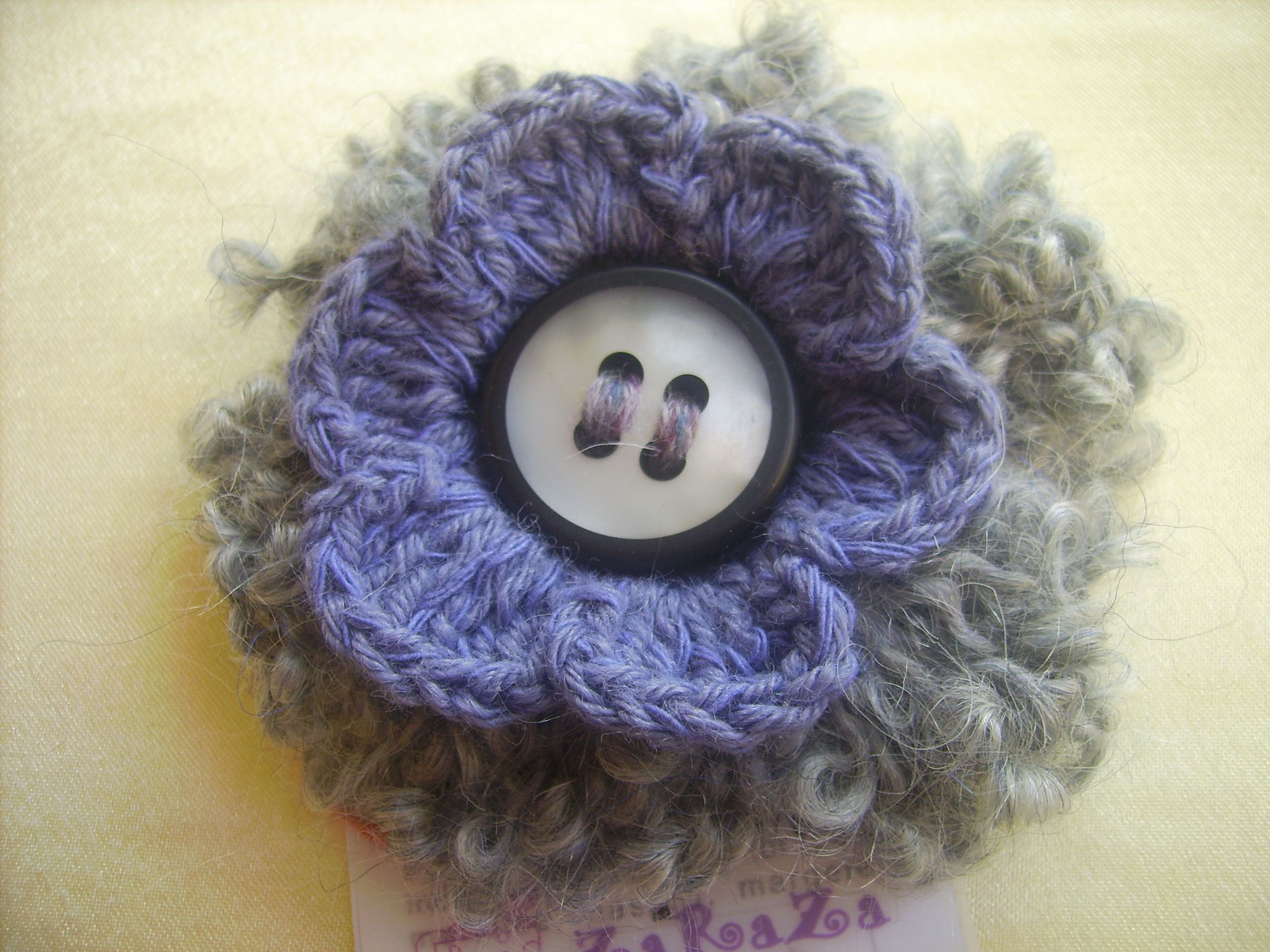 and pattern brooch pin crochet crocheted poppy auntie