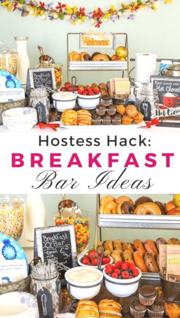 Remove the Hostess Stress of meals! Create this unbelievably easy Breakfast Bar/... Remove the Hostess Stress of meals! Create this unbelievably easy Breakfast Bar/...