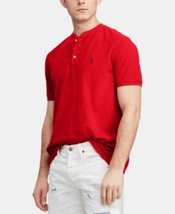 65baef777 Polo Ralph Lauren Men's Big & Tall Featherweight Mesh Henley T-Shirt - Rl  Red