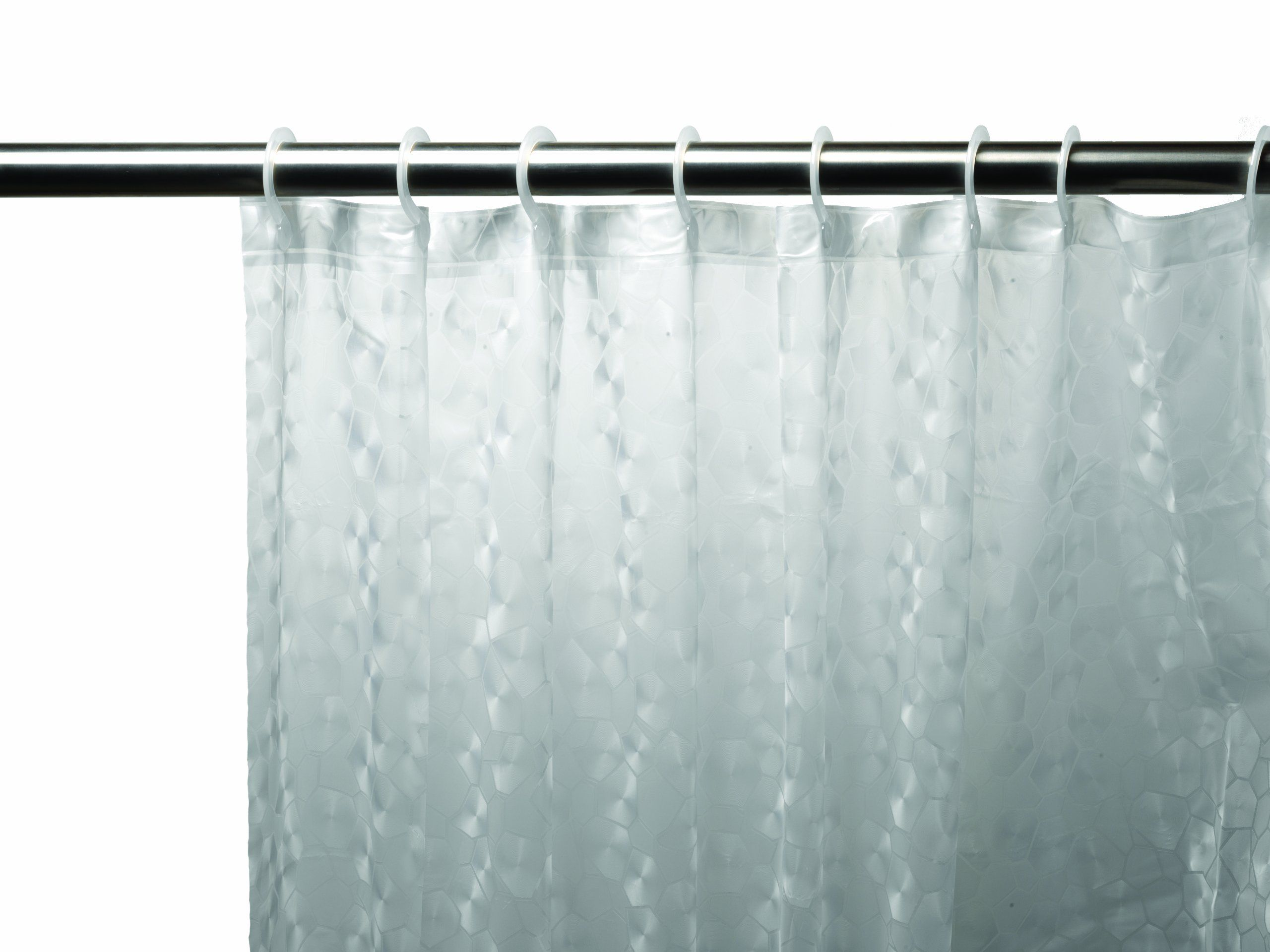 Carnation Home Fashions 3D Prism Look PEVA Shower Curtain with Built ...