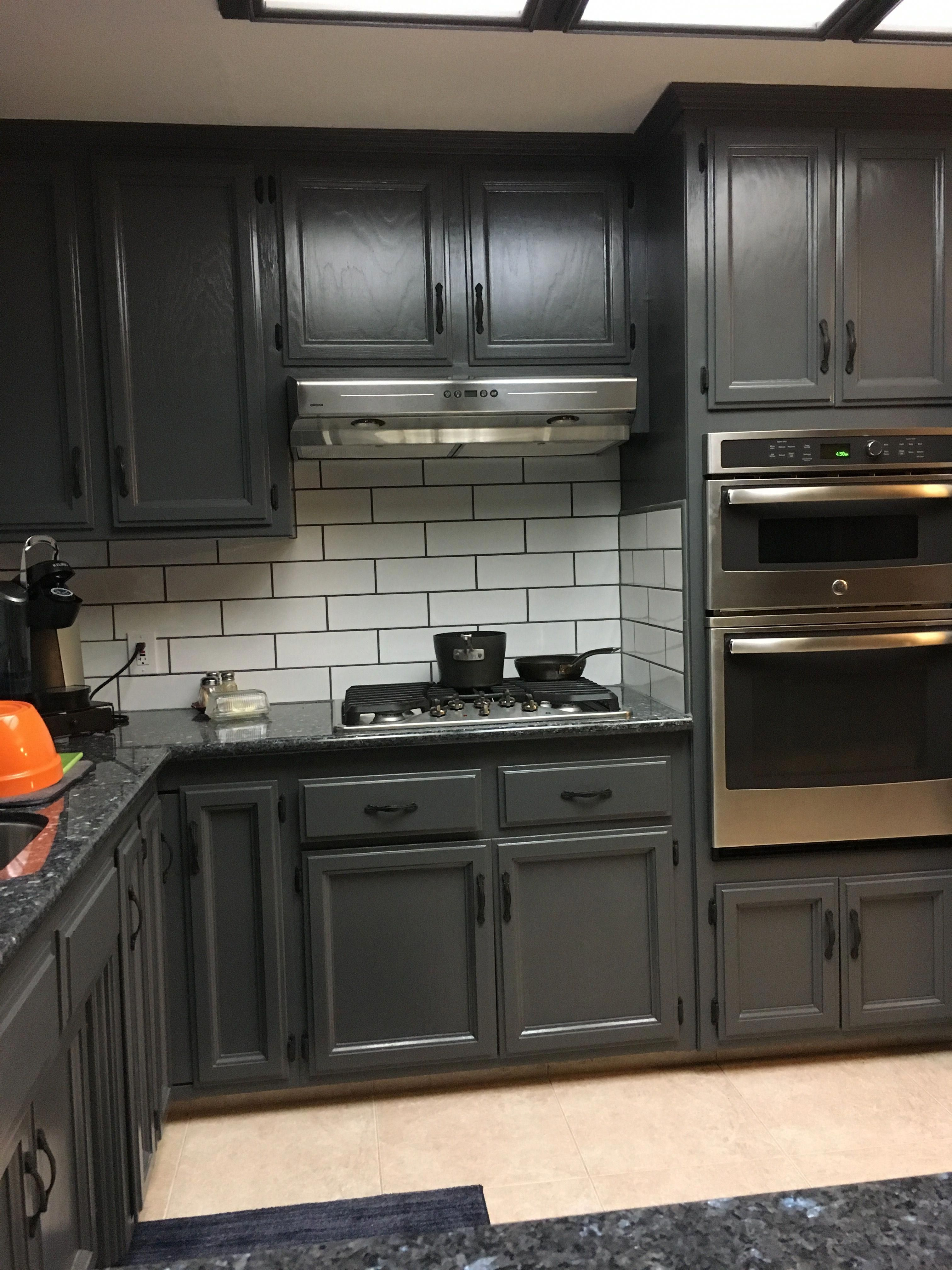 Specifically Taste Aware Grey And Kendall Charcoal Through Readers Favorite Color Colors Color Palette Off White Cabinets Painting Oak Cabinets Kitchen Colors