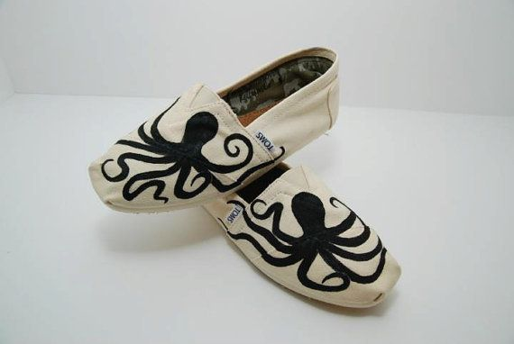 Octopus Custom TOMS Shoes by KellismCo on Etsy. $70