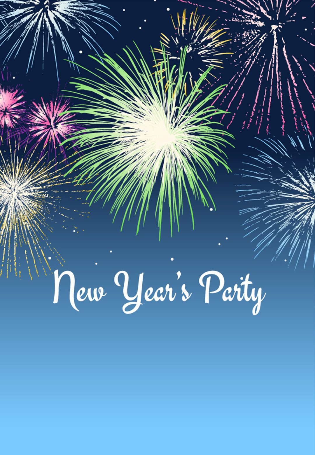 new years party invitations templates