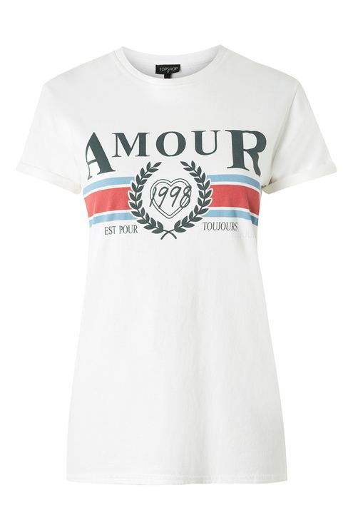 343719349 Topshop Amour Slogan T-Shirt | T O P S | Topshop t shirts, T shirt ...