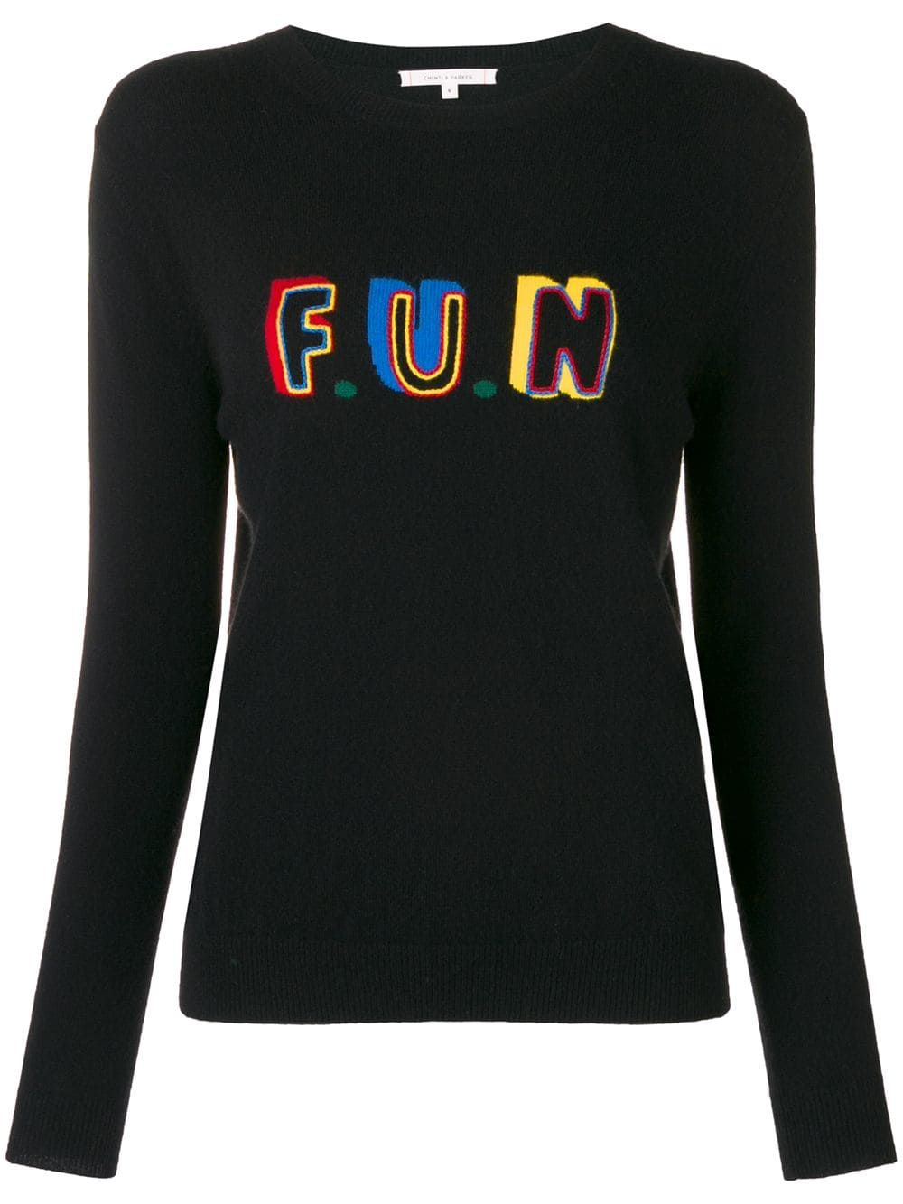 Chinti & Parker slogan fitted sweater Black | Sweaters