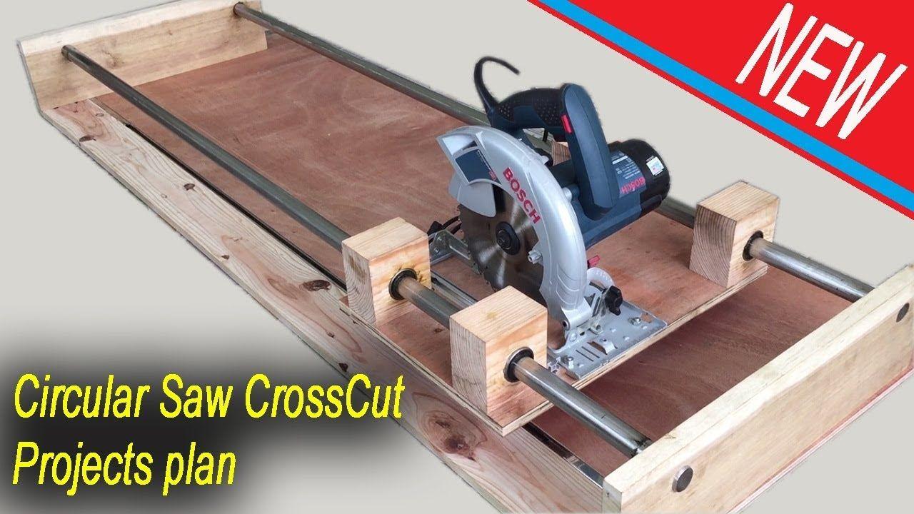 New Circular Saw Crosscut Jig Project Plan Smart Techniques Woodworking Werkstatt Werkzeuge Holzbearbeitung Diy Werkzeuge