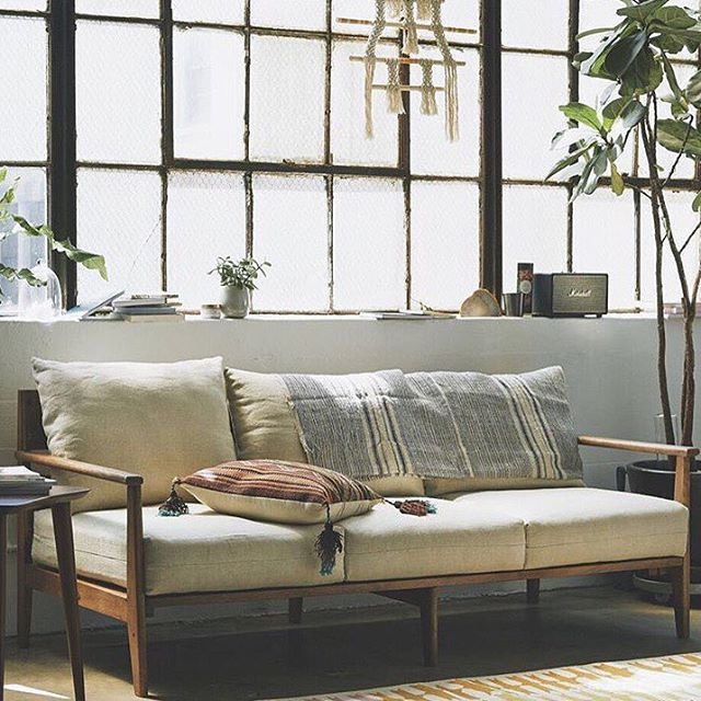 Living room goals featuring the super comfortable Paxton sofa. #UOHome #urbanoutfitters