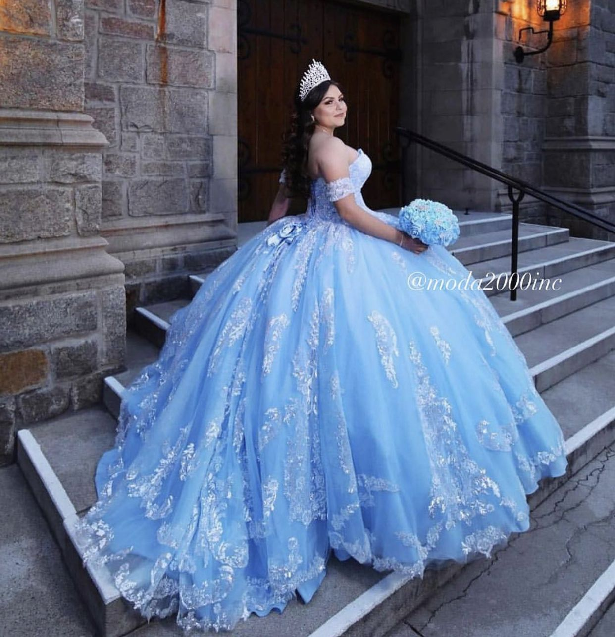 Bahama Blue With Silver Quinceanera Dress Quinceanera Dresses Blue Light Blue Quinceanera Dresses Pretty Quinceanera Dresses [ 1285 x 1242 Pixel ]