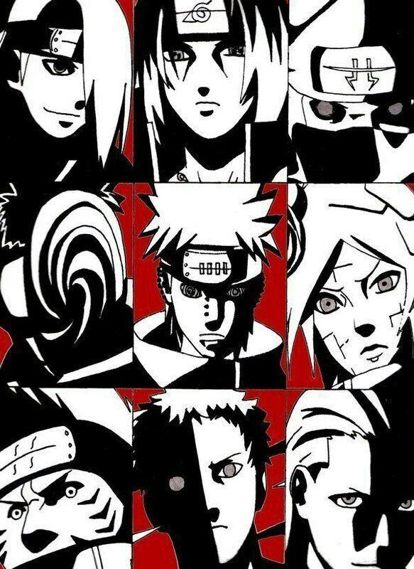 Akatsuki, Itachi, Kisame, Deidara, Tobi, Hidan, Kakuzu ...
