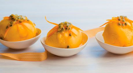Make the most of delicious passionfruit with a passionfruit sorbet!