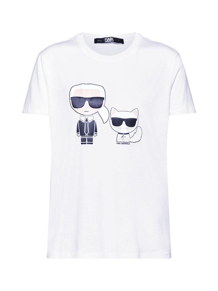 Karl Lagerfeld Shirt Ikonik Karl Choupette Tee Damen Weiss Grosse Xl Karl Lagerfeld Damen