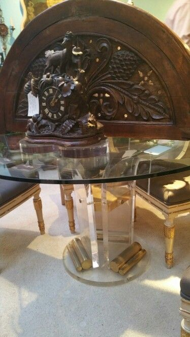 "48"" lucite table for room off kitchen $ $2200 SOLD :("