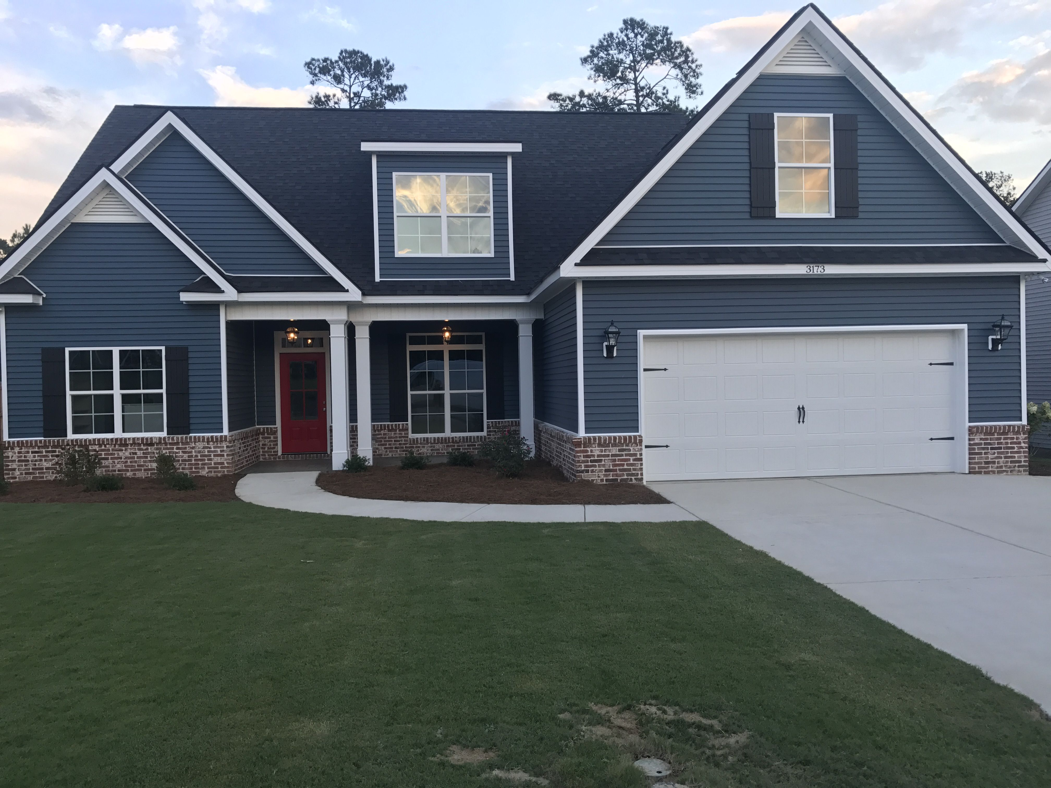 Our Blue House With A Red Door Our House Pinterest Doors And