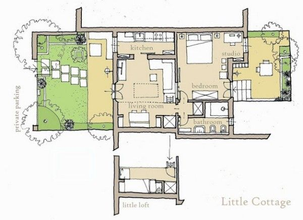 592 Sq Ft Little Cottage In Italy Country Cottage Decor Cottage Floor Plans House And Home Magazine