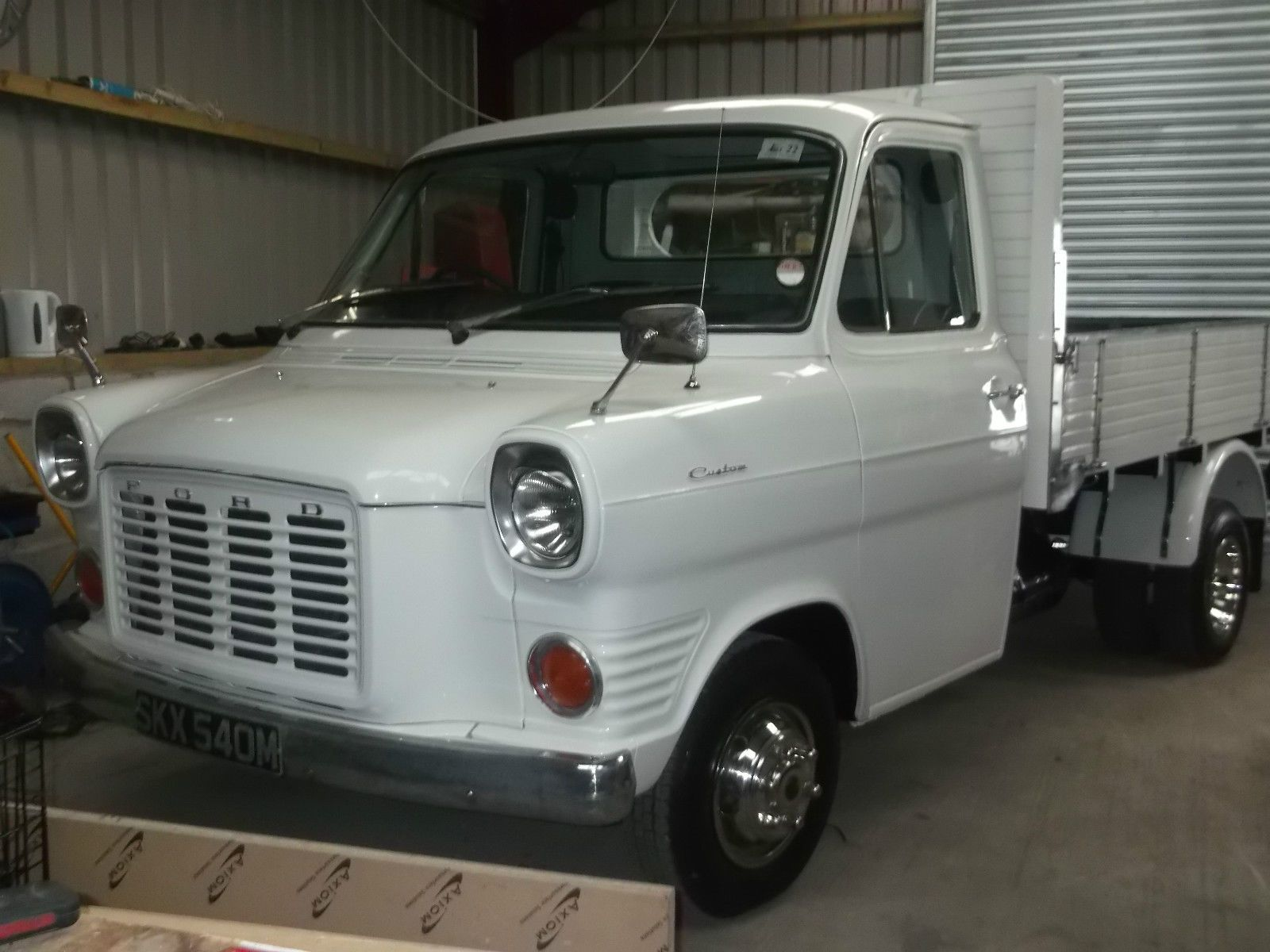 Classic Transit Mk1 Bull Nose With 2 4 York Diesel Dropside Pickup Ready To Show Ebay Commercial Vehicle Car Ford Ford Transit