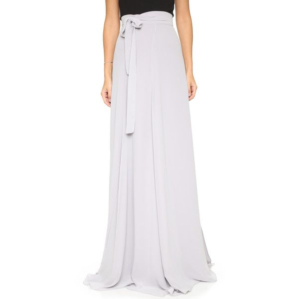 Joanna August Lilly Panel Wrap Maxi Skirt ($270) ❤ liked on ...