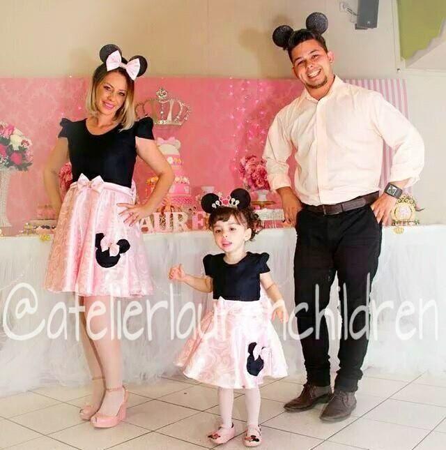 Vestido Mae E Filha Minnie Decoracion Fiesta De Minnie