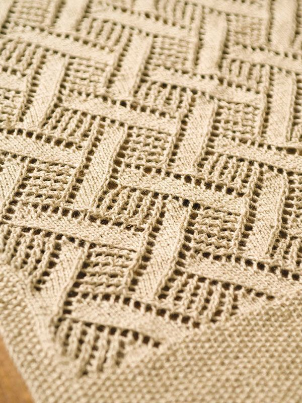 Montague -- Free Berroco pattern. This diamond lace pattern creates ...