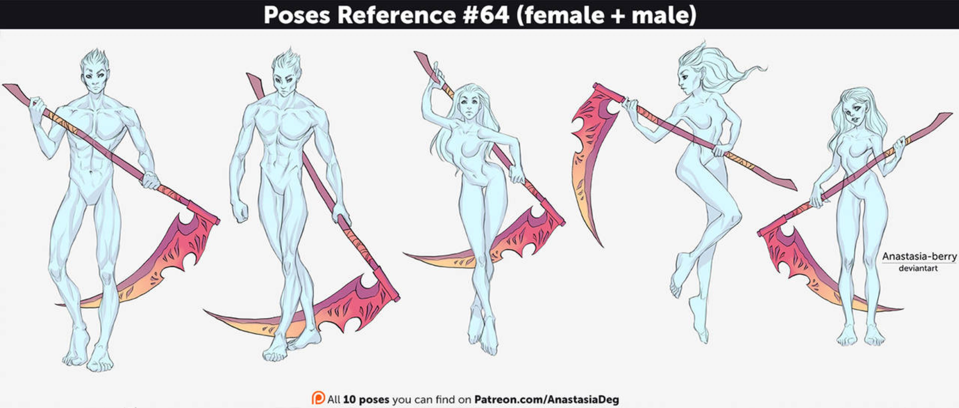 Poses Reference 64 Female Male By Anastasia Berry On Deviantart Anime Poses Reference Pose Reference Character Poses