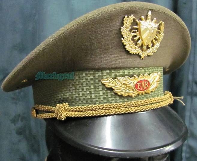 Gorra de plato de oficiales del Ejército de Cuba   Cuban Army officers   visor cap 01b322b5809