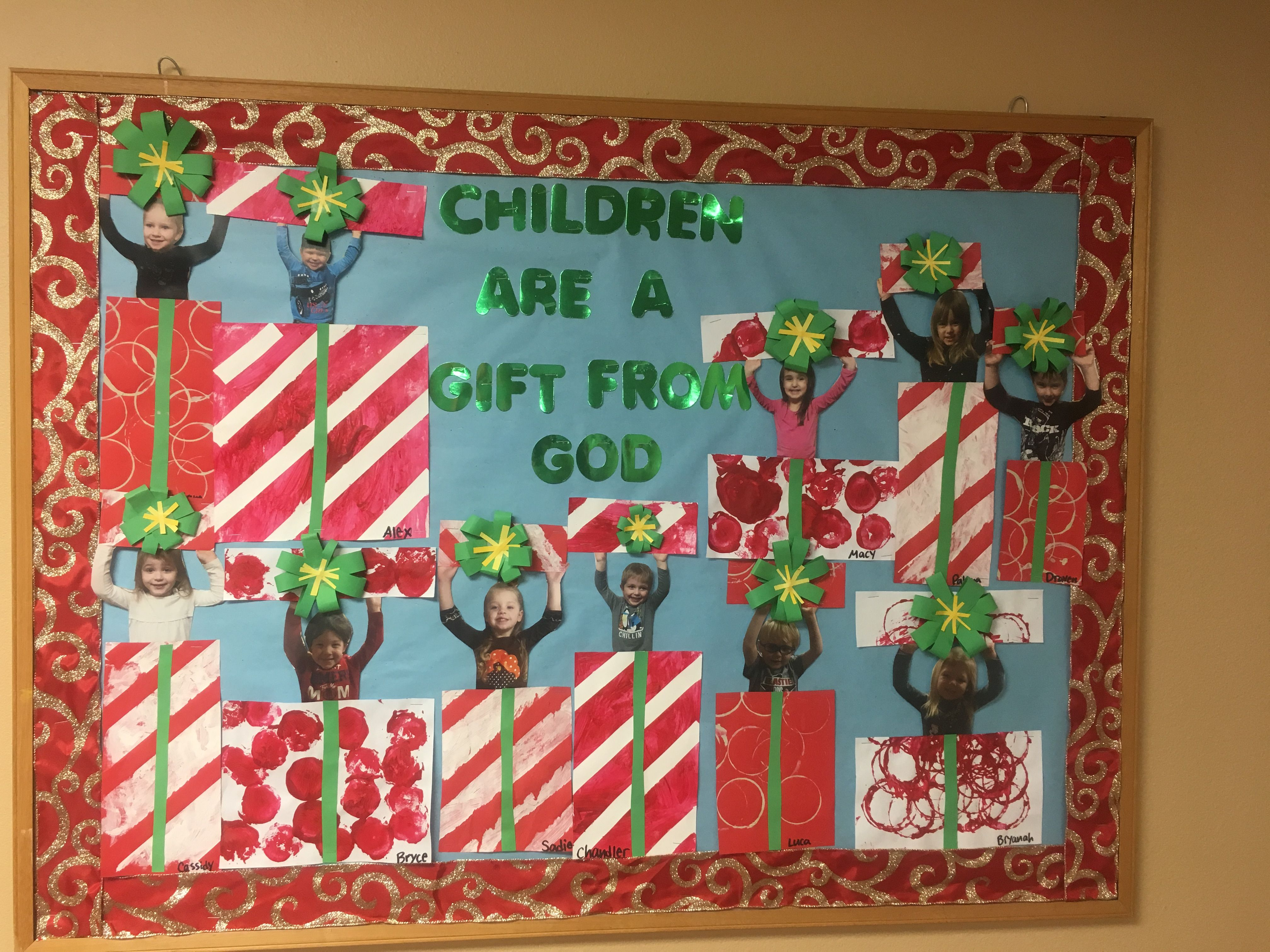 Children Are A Gift From God Christmas Bulletin Board Boards