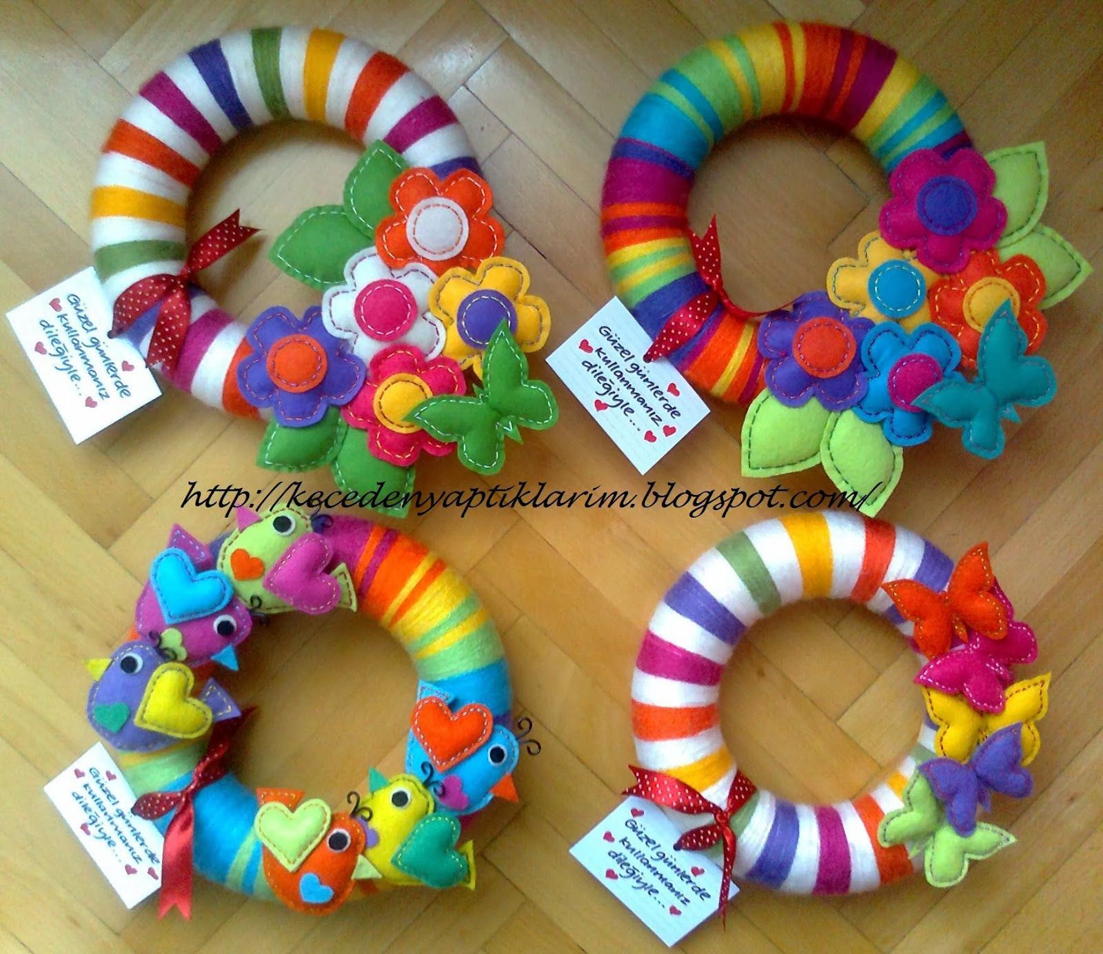 Decoración Manualidades En Fieltro Felt Wreaths Fieltro Hermosooo Pinterest Fieltro