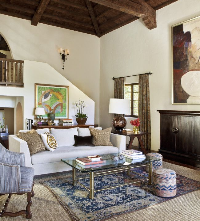 Spanish Eclectic Style Living Room
