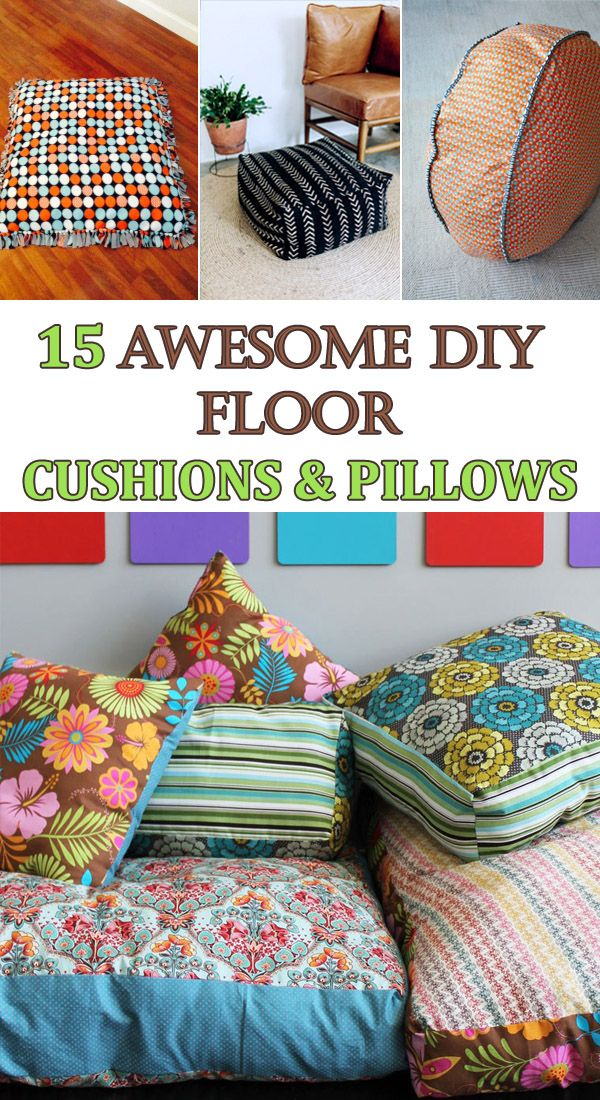 15 awesome diy floor cushions and pillows pinterest diys crafts 15 awesome diy floor cushions and pillows solutioingenieria Gallery