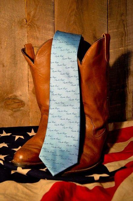 Buffalo Jackson Reagan Blue Ronald Reagan Necktie