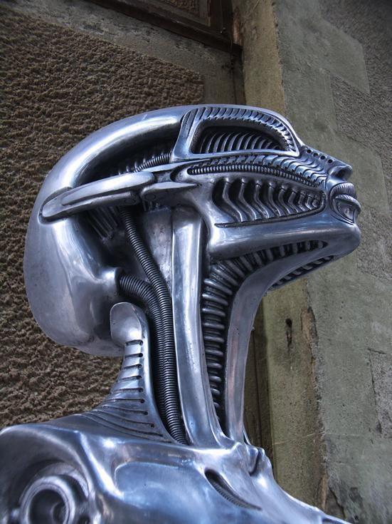 hr giger birth machine statue