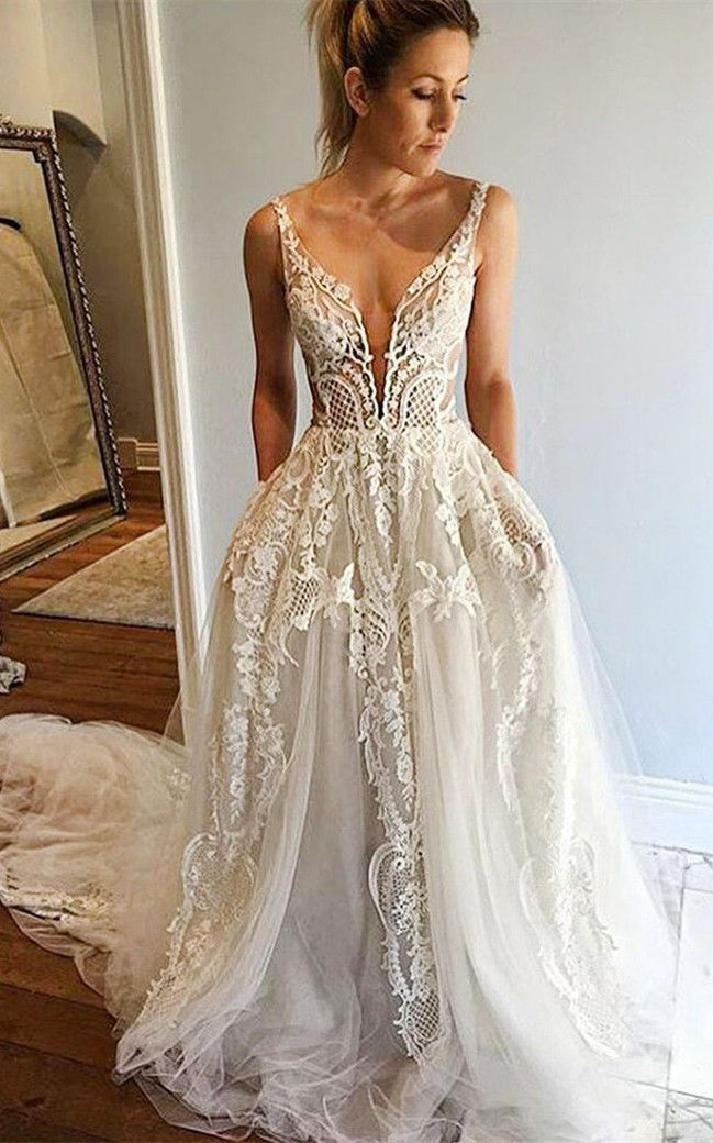 2017 Wedding Dresses Unique Lace White Bridal Style Boo
