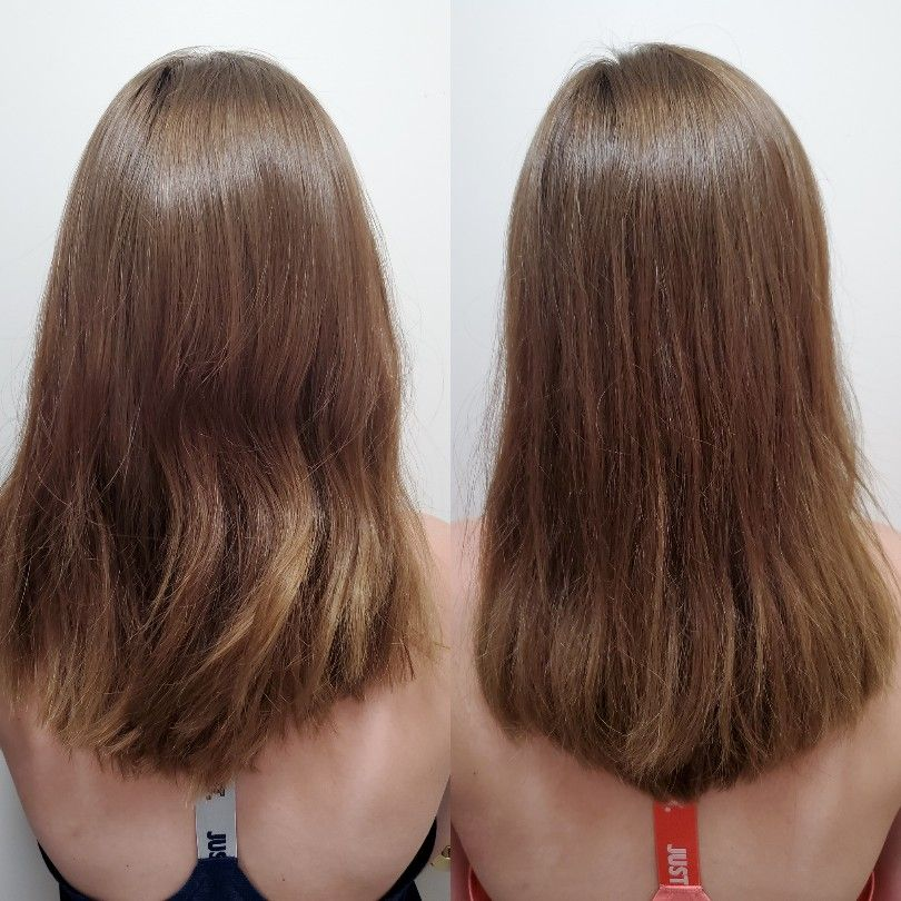 Hair Transformation After One Wash