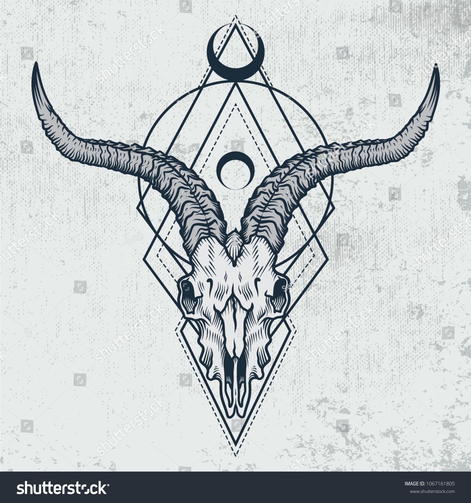 Borneo tattoos  #skull #tattoo goat skull tattoo, hand skull tattoo, skull tattoo old school, cow skull tattoo, cat skull tattoo, realistic skull tatt…