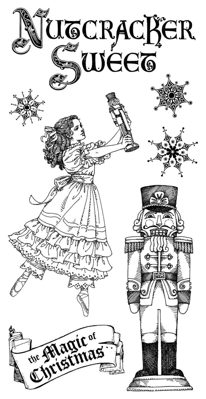 Nutcracker Sweet Cling 1 | Christmas coloring pages ...