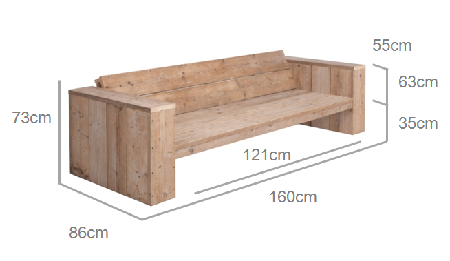Diy Budget Loungebank : Mooie steigerhouten lounge bank steigerhouten loungebank