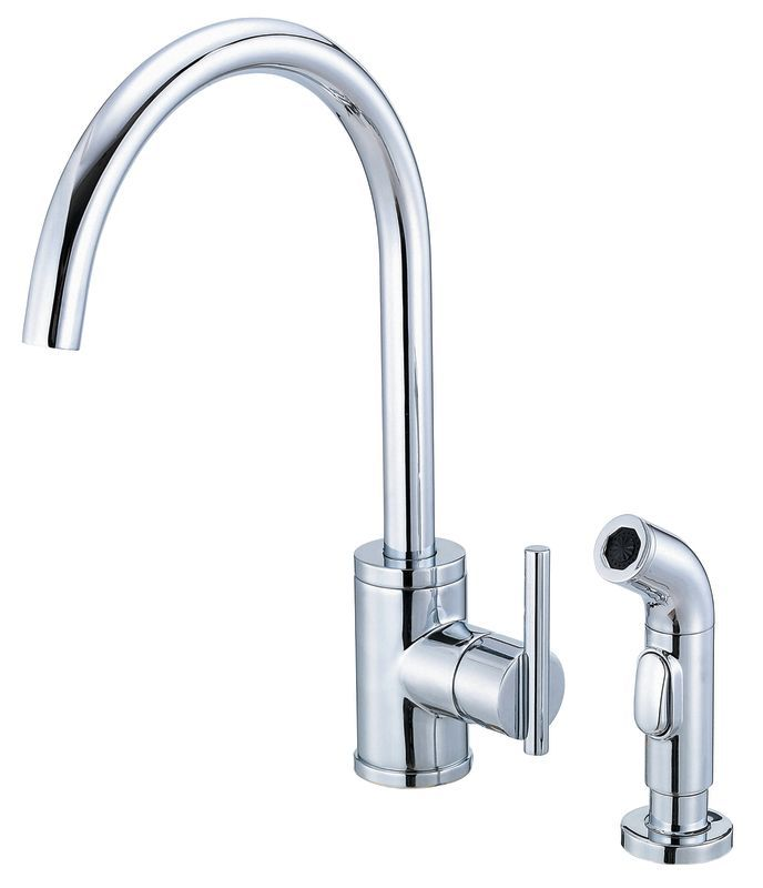 Danze D401058 Kitchen Faucet   Includes Metal Side Spray From The Parma  Collecti Chrome Faucet Kitchen