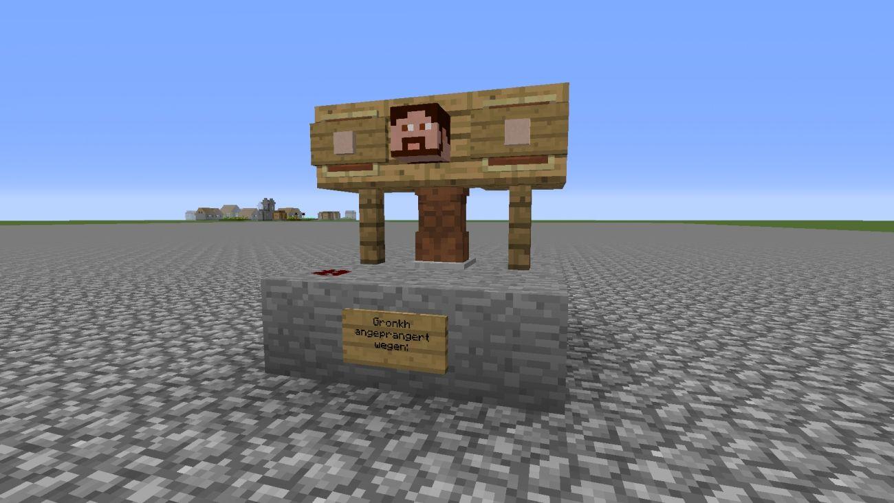 Minecraft Bauideen #1: Pranger: in Pranger mit dem selben ...
