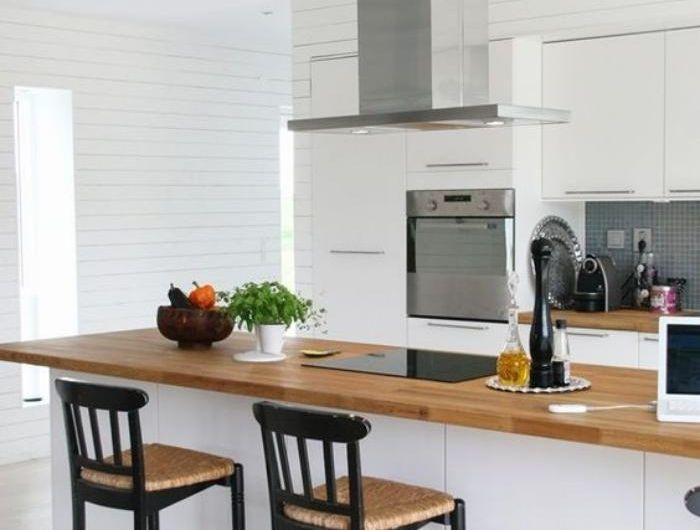 la cuisine blanche et bois en 102 photos inspirantes sweet home vannes pinterest cooking. Black Bedroom Furniture Sets. Home Design Ideas