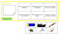 Lotto thema school (zinnen) om met anderstalige nieuwkomers en leerlingen Nederlands te oefenen.