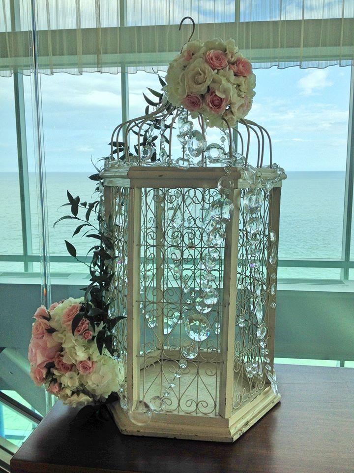One Atlantic- Atlantic City, N.J. #wedding #cardbox #decor #birdcage