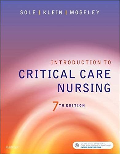 Introduction To Critical Care Nursing Sole 7th Edition Test Bank