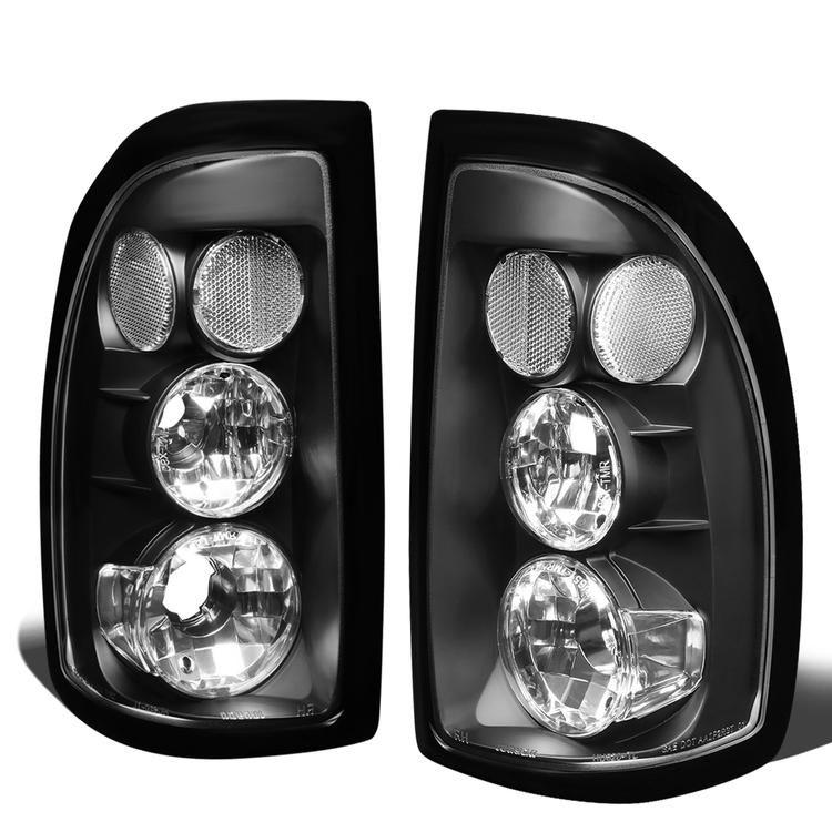 D Motoring 97 04 Dodge Dakota Tail Lights Black Housing Clear Lens Plug N Play Pair Dodge Dakota Tail Light Rear Brakes