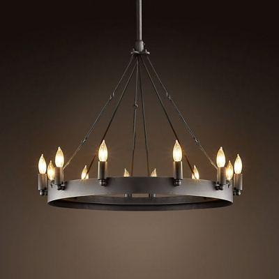 Vintage black 12 light wrought iron led chandelier wrought iron vintage black 12 light wrought iron chandelier aloadofball Gallery