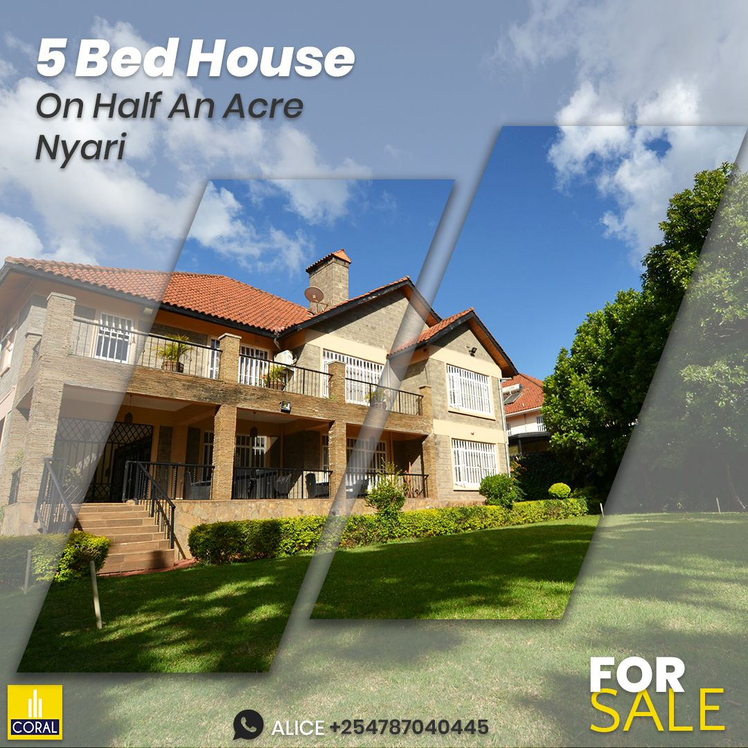 5 Bedroom House On Half An Acre For Sale In Nyari in 2020