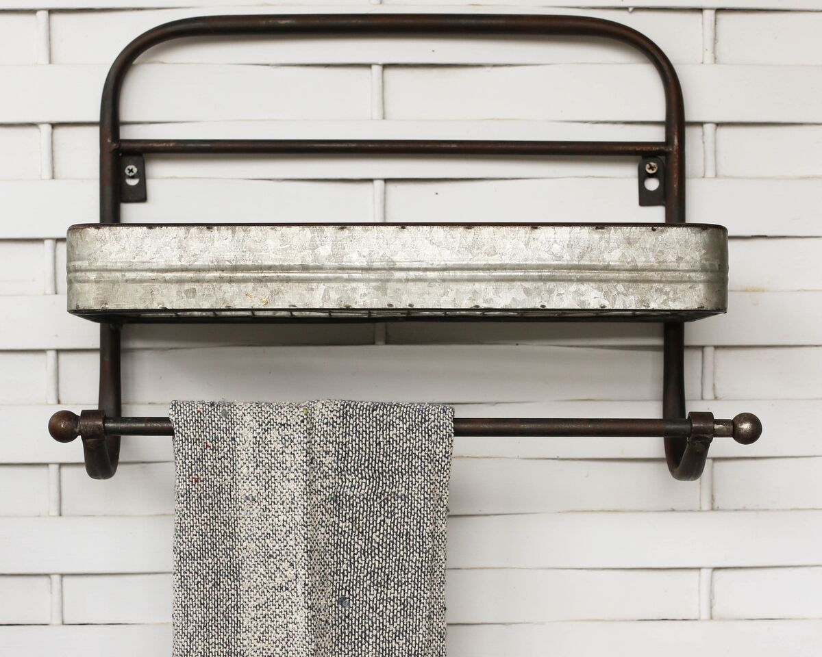 Wire Shelf Towel Rack